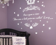Popular Items For Princess Wall Decals On Etsy