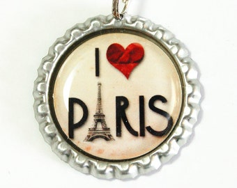 I Love Paris, Paris Bookmark, bookmark, book mark, Shepherd Hook, gift for reader, eiffel tower, paris (2478)