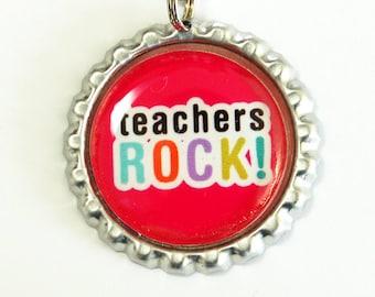 Teachers Rock, Teacher Bookmark, bookmark, book mark, Shepherd Hook, gift for teacher, teacher (2540)