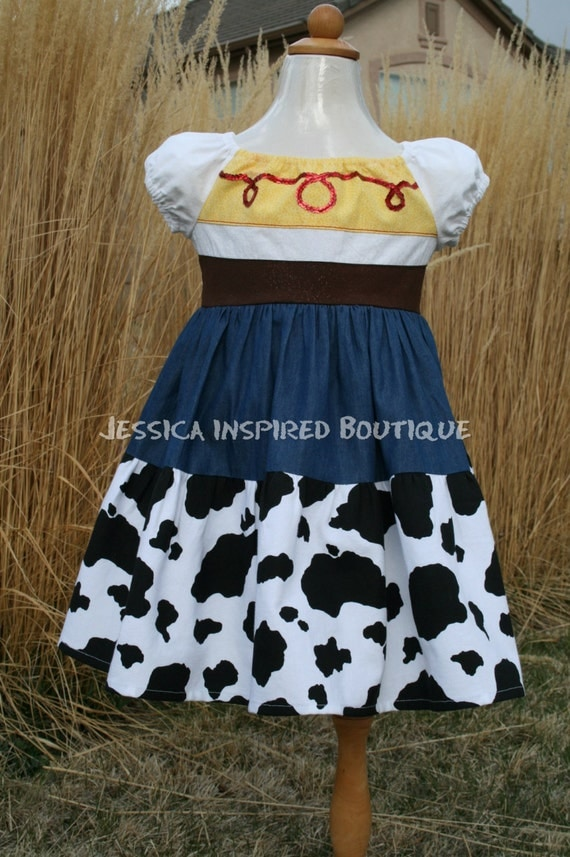 Disney Toy Story Jessie Dress - Jessie Inspired Dress Size 2, 3, 4T Jessica Inspired Boutique