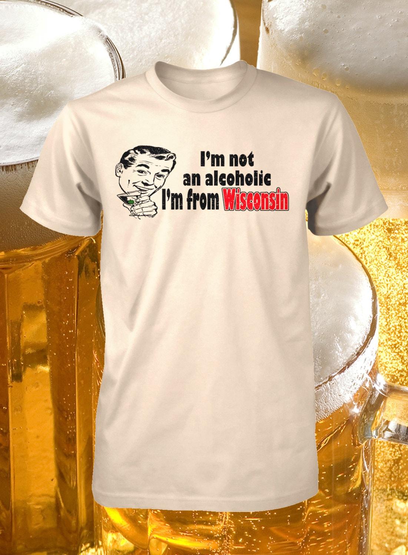 Wisconsin Drinking Shirt Funny Wisconsin Tee Alcoholic