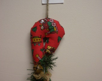 Candy Cane Ornament,  Fabric Candy Cane Christmas Tree Decorations