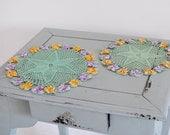 Vintage Crochet Mat, Vintage Doilies, Vintage Dressing Table Mats, Vanity Table Mats