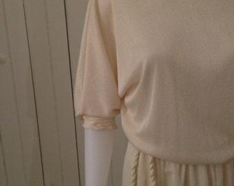 70s BoHo Draped Slouch Dress