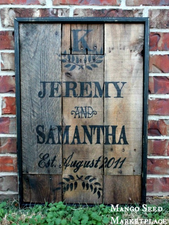 Hand Painted Rustic Wood Vintage Style By Mangoseedmarketplace