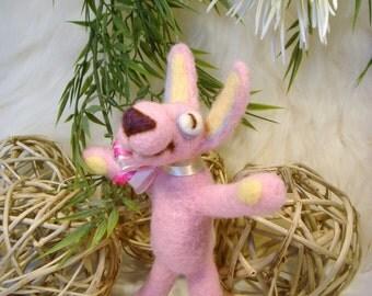 Bunny, Needle Felted Bunny,Handmade bunny, soft sculpture, Doll gifts, Rabbit