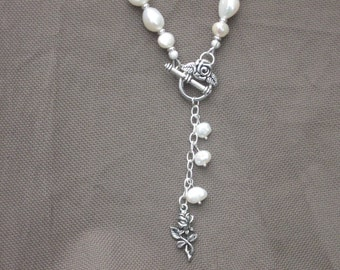 Necklace-Pearl Necklace-Beaded Necklace-Pearl Necklace-Rose Necklace-Freshwater Pearl Necklace-Charm Necklace