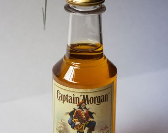 Captain Morgan Ornament-- Cpt. Morgan Spiced Rum Themed Christmas Tree Ornament.