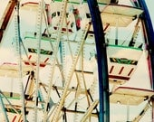 Ferris Wheel photograph - Carnival Art - 8x10 photograph - Fort Worth Stock Show- carnival photography - nursery art