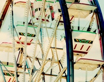 Ferris Wheel photograph - Carnival Art - 8x10 photograph - Fort Worth Stock Show- carnival photography - nursery art