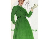 Vintage Sewing Pattern 1956 Coat PDF Plus Size (or any size)  - Pattern No 8 Tami