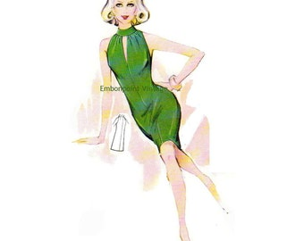 Plus Size (or any size) Vintage 1969 Dress Pattern - PDF - Pattern No 99 Beatrice