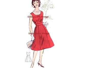 Plus Size (or any size) Vintage 1950s Dress Pattern - PDF - Pattern No 11: Sandra
