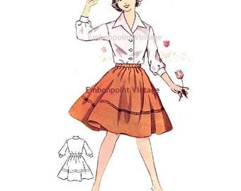 Plus Size (or any size) Vintage 1950s Skirt Pattern - PDF - Pattern No 145b Jan Skirt
