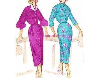 Plus Size (or any size) Vintage 1949 Dress Sewing Pattern - PDF - Pattern No 61 62 Henrietta