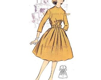 Plus Size (or any size) Vintage 1950s Dress Pattern - PDF - Pattern No 77 Rhonda