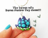 League of Legends Baron Nashor Face key chain -polymer clay, hand sculpted