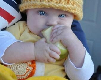 Crochet Baby Care Bear Hat, Crochet baby Hat, Crochet baby photo prop, Crochet baby bear hat