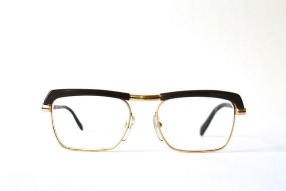 Eyeglass Frames German Made : Vintage nerd glasses black West German 50s men by ...