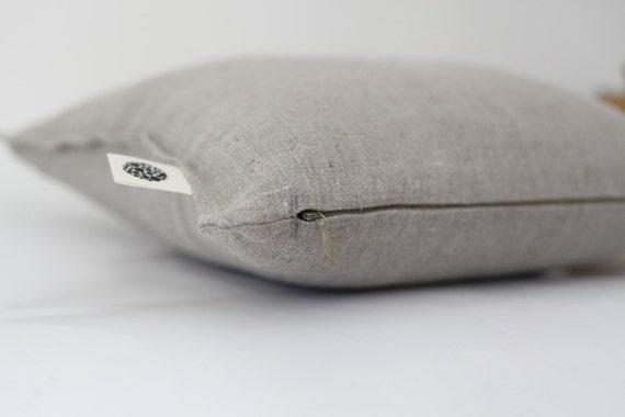 Linen pillow cover grey - decorative covers- throw pillows - shams  0070