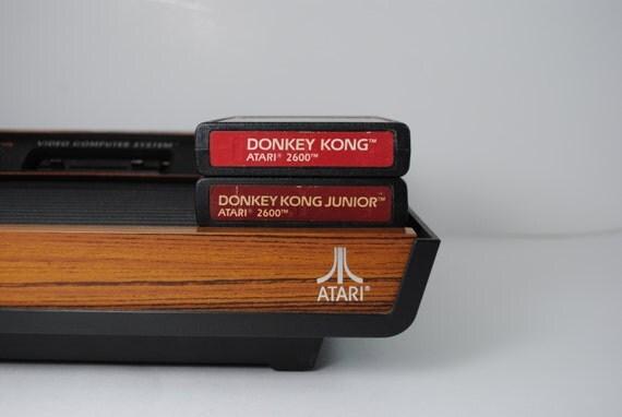 Donkey Kong and Donkey Kong Junior Atari 2600 Game Cartridges