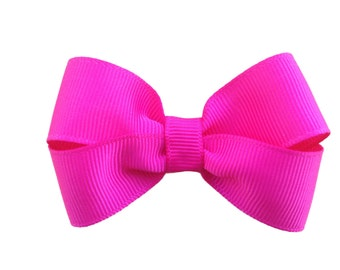 Hot pink hair bow - 3 inch hair bows, hair bows, girls bows, baby bows, girls hair bows, toddler hair bows, boutique bows, pink bow, bows