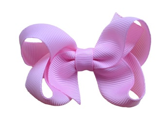 Light pink hair bow - light pink bow