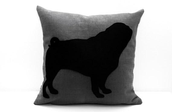 Pug Pillow cover, housewarming gift, dog pillow, decorative pillow, pillowcase, pillowslip, funda de cojín, cojín del sofá, dog lover gift