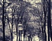 Paris Montmartre photo, Couple, Steps, Street lamp, Travel Photograph, 8x12, Vintage, wall decor, for her, gift under 50, valentines