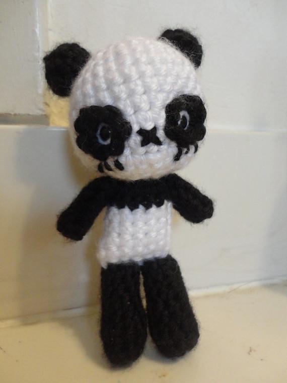 Amigurumi Panda Bear Crochet Pattern : Chibi panda bear amigurumi pdf crochet pattern by sylemn