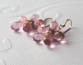 Bridal flower earrings bridesmaid earrings gold filled earrings
