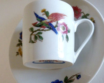 Cordon Bleu Tea Cup and Saucer, France, Vintage Tea Cup