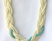 "Multi Strand ""Just Beachy"" Braided Necklace, Beach Inspired Jewelry"
