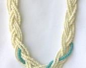 """Multi-Strang """"Nur Beachy"""" geflochtene Halskette, Strand inspiriert Schmuck"""