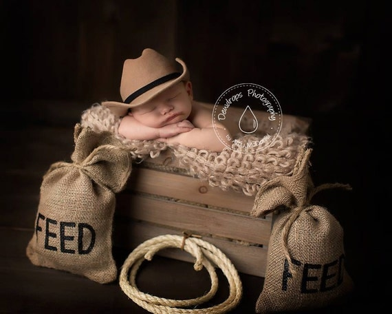 Country Western Burlap Feed Sacks Amp Lasso Photo Prop
