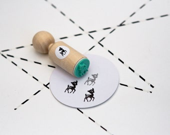 Deer girl mini stamp mint