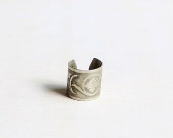 Ear cuff Art Nouveau ornament silver ear cuff