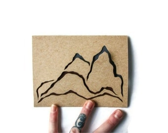 Laser Cut Blank Card: MOUNTAIN RANGE SLICES