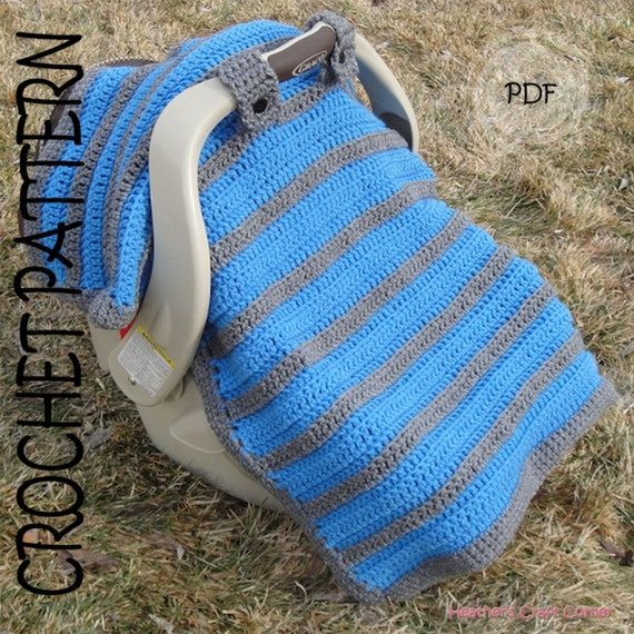Free Crochet Pattern For Baby Car Seat Cover : CROCHET PATTERN Simply Sweet Car Seat Canopy / Blanket