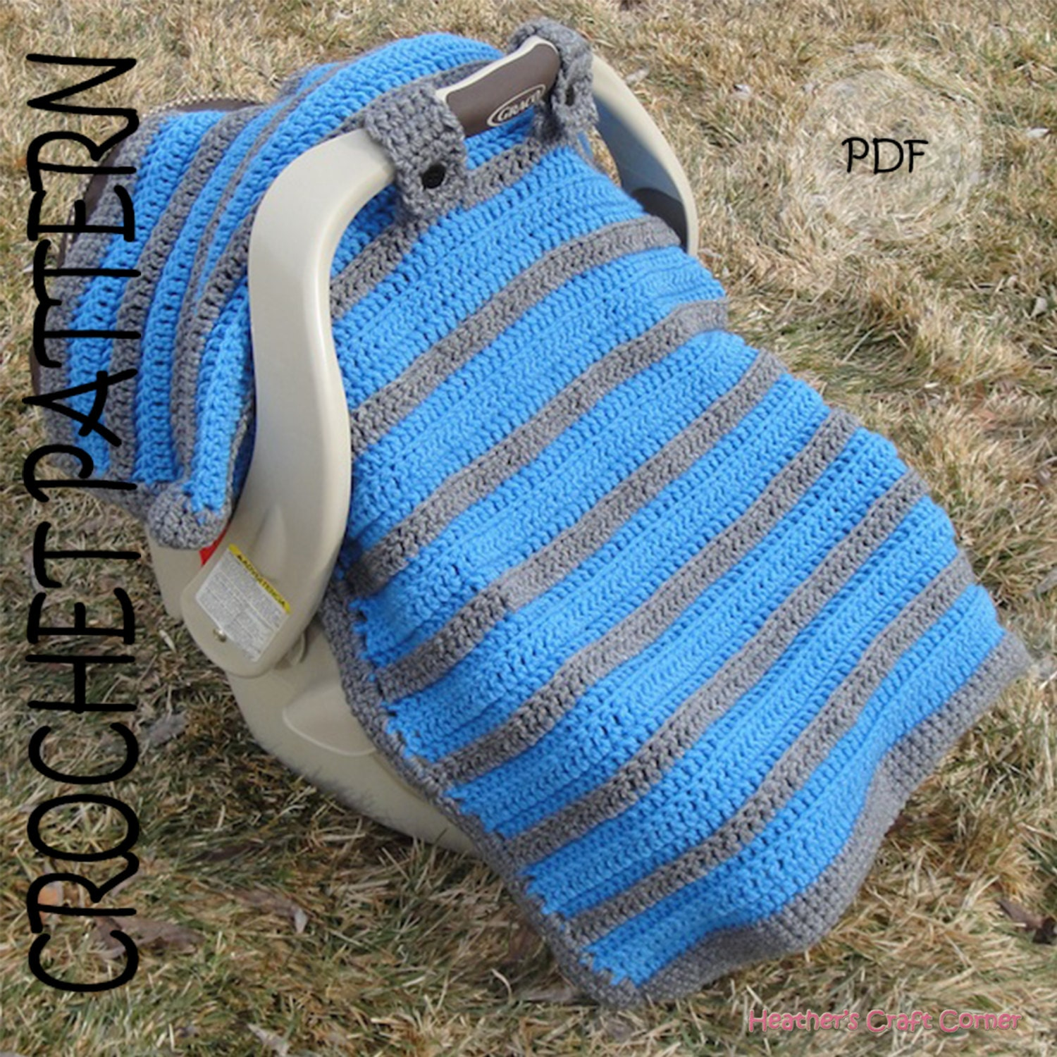 Knitting Patterns For Baby Car Seat Blankets : CROCHET PATTERN Simply Sweet Car Seat Canopy / Blanket