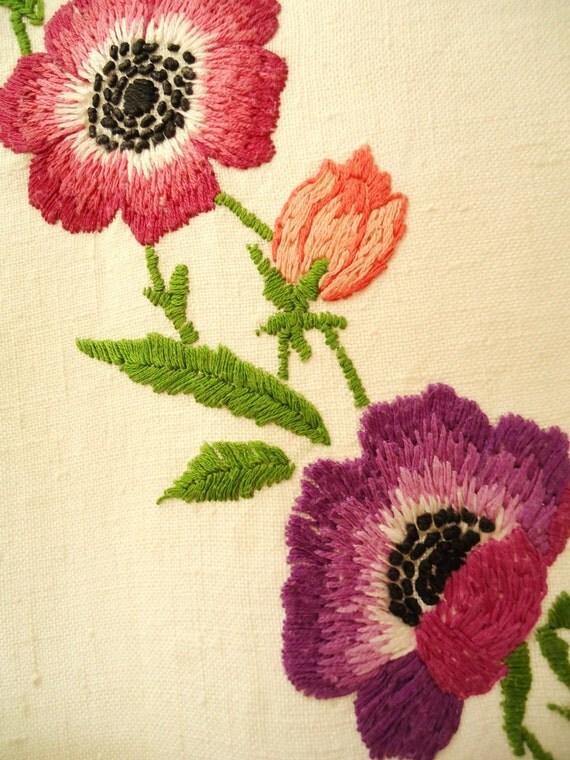 Poppy vintage tablecloth