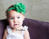 Baby Headbands, Baby Girl Headband, Baby Bow Headband, Infant Headband, Green Headband, St. Patricks Day Headband, Newborn headband, Hairbow