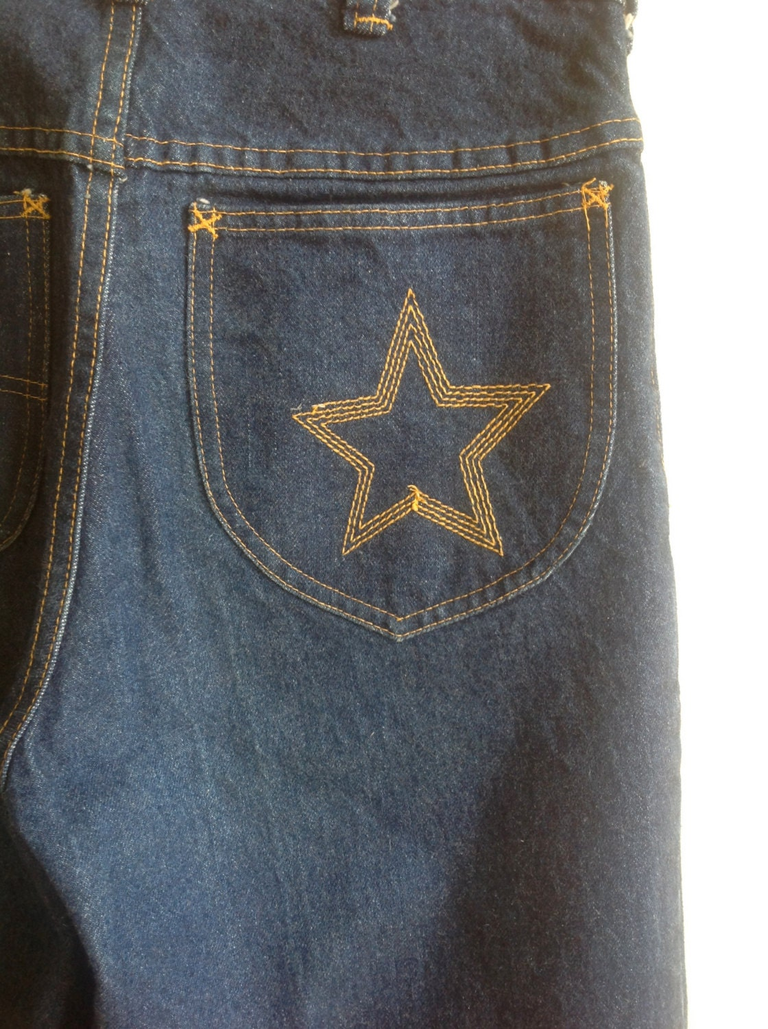 Vintage 70s H A S H Bell Bottom Jeans Glam Rock Like By