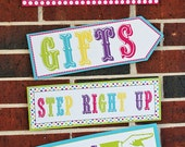 """Instant Download Printable Carnival Ride Signs - NOTE MUST PRINT on 11"""" x 17"""" ledger size"""