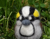 Needle Felted White Throated Sparrow- Needle Felted Bird Decoration, Gift for Nature Lover or Birder, Spring Easter Gift
