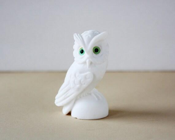 White Alabaster Owl Figurine