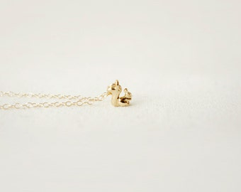 Tiny Squirrel Necklace  (petite squirrel charm - available in gold or silver)