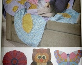 Simplicity Sewing Pattern 2935 Rag Quilts Flower Butterfly Owl New and Uncut Pattern