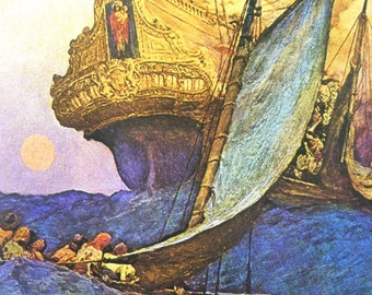1921 Howard PYLE PIRATE GALLEON Print for Framing