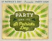 St Patrick's Day Wall Print Instant download
